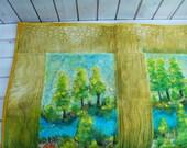 Contemporary art quilt, modern art quilt Riverside- art quilt- wallhanging, quilt, quilt wallhanging, mixed media art quilt
