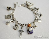 Once Upon a Time Charm Bracelet, with NEW Once Upon a Time Magic, Storybrooke, Enchanted Forest, Emma, Rumpelstiltskin, Regina, Once Cosplay