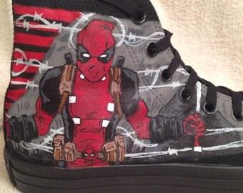 Deadpool - Marvel DC Anime custom Converse