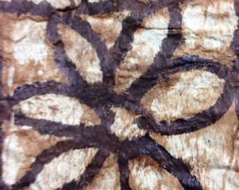 Vintage Tapa Cloth Kupesi The Pacific Island of Tonga  Mulberry Tree Bark 3 Color 3 foot by 8 inch