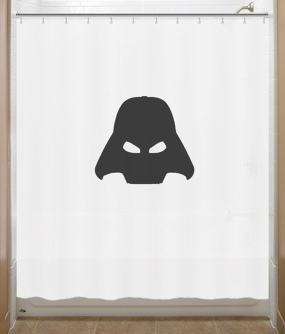 darth vader Shower Curtain star wars bathroom decor bath kids