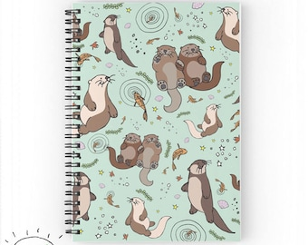 Sea Otter Notebook, Sea Otter Gifts, Cute Otter Gifts, For Otter Lovers, Sea Otter Gifts, I Love Sea Otters, Otter Design, Otter Pattern