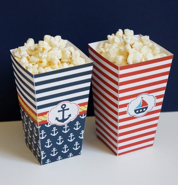Red White Popcorn Boxes images