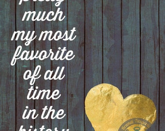 You're My Favorite History of Ever Love Marriage Inspiration Decor Product Options and Pricing via Dropdown Menu