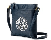 Monogram Crossbody Purse, navy purse, cross body bag, personalized gifts for her