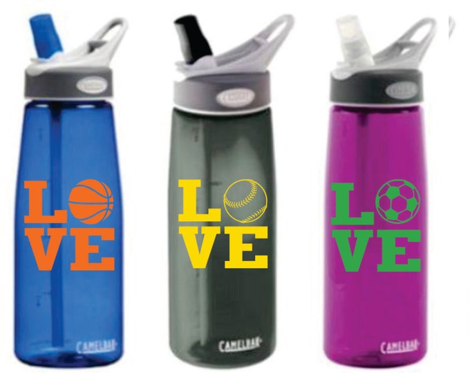 Waterbottle Decal - Sports Decal - Small Decal - Waterbottle Stickers and Monograms - Small Wall Decals - Water bottle