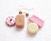 Cookie Earrings. Polymer Clay.