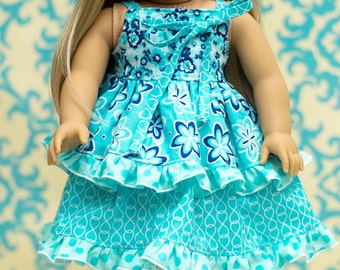 "Riley's Redesigned Knot Dress PDF pattern sizes 15"" and 18"" doll"