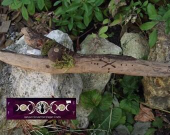 Goddess Gefjon Runic Wand  - Gift of the Goddess - Crystal , Nature and Rune Power