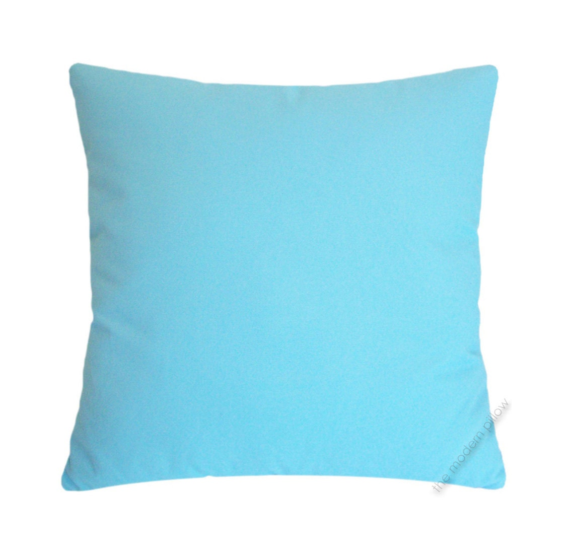 Sky Blue Decorative Pillows : Sky Blue Solid Decorative Throw Pillow Cover / Pillow Case