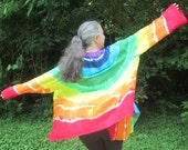Rainbow Jacket, Tie-dyed, Lightweight, Long Sleeves
