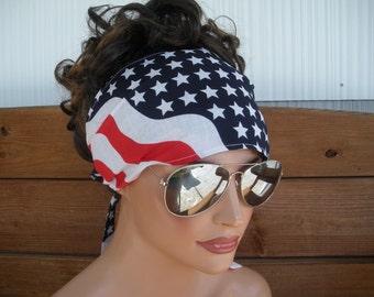 American Flag Headband 4th of July Headband Fashion Accessories Women Headband Headwrap July 4th Bandana Headscarf