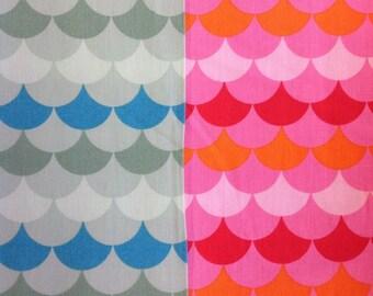 Robert kaufman hello tokyo adventure design in pink or blue by the half metre 100% cotton