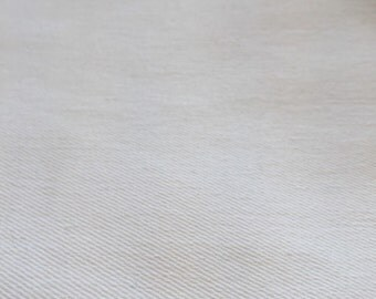Stretch Twill Fabric By the Yard, Optic White