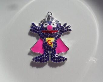 50mm*40mm, Grover Inspired, Super Hero Grover, Pendant, P55
