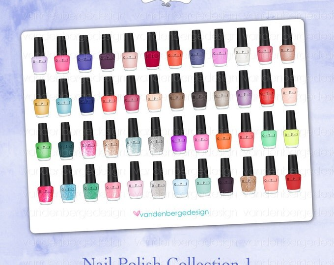 Planner Calendar Stickers- Nail Polish Collection 1- Perfect for the Erin Condren Life Planner