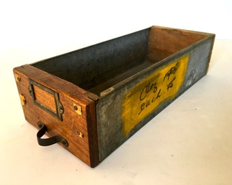 Vintage galvanized  farmhouse drawer