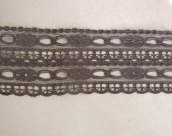 Black Double Beading Lace Trim