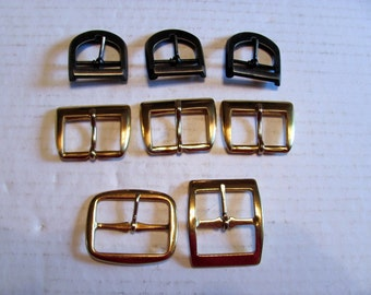 Buckle Destash / 8 Assorted Buckles for Purse Making or Belts