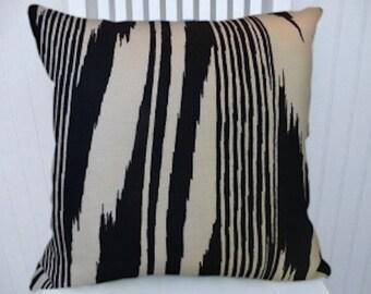 Black White Striped Pillow Cover--Decorative Pillow Cover, 18x18 or 20x20 or 22x22-- Throw Pillow- Accent Pillow