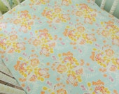 Aqua, Coral, and Yellow Floral Crib/Toddler Sheet, SHEET ONLY