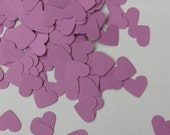 CLEARANCE 50% off - Confetti hearts 200 pcs - fuschia pink - cardboard party wedding scrapbook crafts