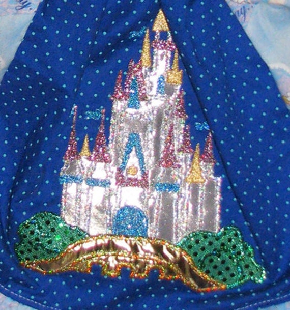 Disney Cinderella Princess Castle Embroidery Applique