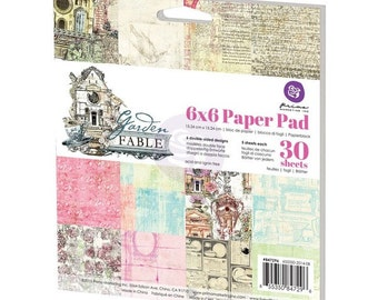 Prima Garden Fable Collection 6 x 6 Scrapbook Paper Pad Prima
