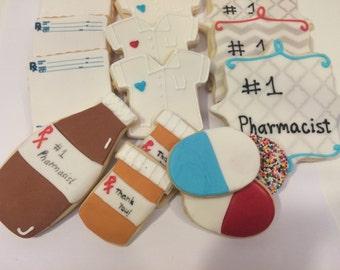 Pharmacy nurse cookies - Kosher - Handmade - 1 Dozen