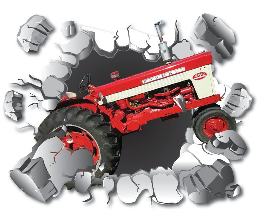 Farmall Wall Decals : Red tracter wall decal farm decor removable sticker