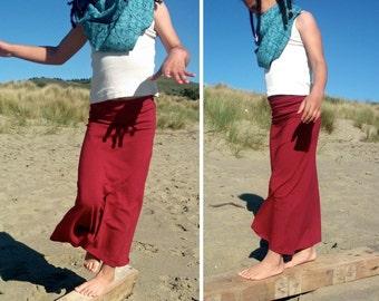 Organic Girls Maxi Skirt, Organic Cotton and Bamboo, Soy, Hemp Fabrics