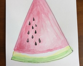 Watercolor Painting - Watermelon