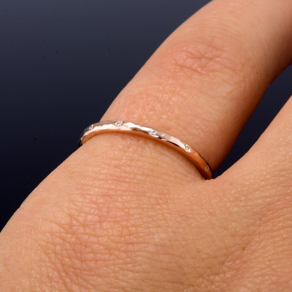 Thin 12 Diamond Wedding Ring In Rose Gold By Nodeformweddings. Large Gold Bangle. 3 Diamond Bands. Maroon Earrings. Timer Watches. White Gold Diamond Eternity Band. Cheap Gold Jewellery. Blue Necklace. Handcrafted Engagement Rings