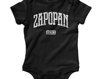 Baby Zapopan Mexico Romper - Infant One Piece - NB 6m 12m 18m 24m - Zapopan Baby - 3 Colors