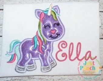 Unicorn Machine Embroidery Applique Design Buy 2 for 4! Use Coupon Code 50OFF