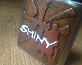 Hand Carved Shiny Flask