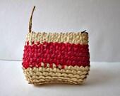 African Basket Bag, Straw Bag, Palm Leaf Clutch, Basket Woven Wallet