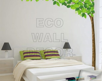 PEEL and STICK Kids Nursery Removable Vinyl Wall Sticker Mural Decal Art - Giant Tall Tree & Leaves