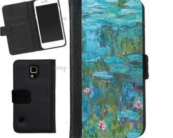 Claude Monet Water Lilies Wallet Phone Case iphone 5/5s iPhone 6 Case Samsung Galaxy s4 s5 s6