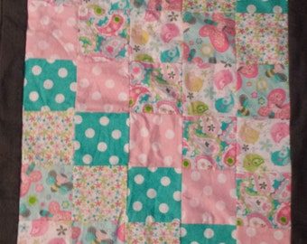 The Birds and the Bees Stroller Blanket