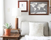 Pillar Lamp- Solid Walnut, Modern Table Lamp, Minimalist Lighting, Living Room Lamp