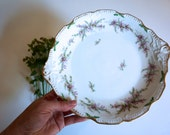 Vintage French Dessert Plate with Purple Flowers Limoges France - Floyd Jones Vintage