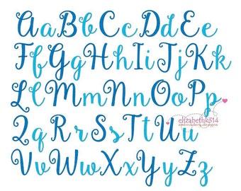 "BX FORMAT - Sizes 1"",2"",3"" - Instant Download -Gardenia  - Embroidery Font Design 263 - Machine embroidery font design."