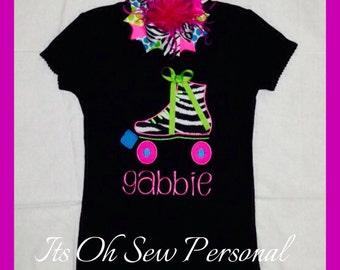 Roller skate shirt w/BOW