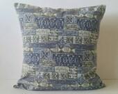 "Ula Ula Hawaiian pillow cover 19""x19"", vintage aloha shirt print, hand-sewn in Hawaii"