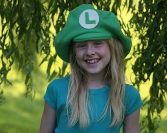 Super Mario Brothers-Child's Fleece LUIGI Hat