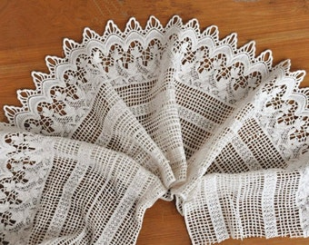 cream lace trim, cotton lace trim, cotton crochet lace trim