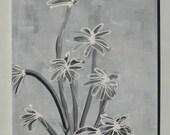 Abstract Painting,Wall Art,Acrylic,Original Painting,Black White Grey,wall hanging