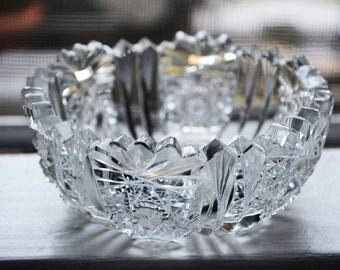 Pair of American Brilliant Cut Glass Bowls, Parisian Decor, Crystal Dessert Bowls, Vintage Soup Bowls, Cut Crystal Bowls