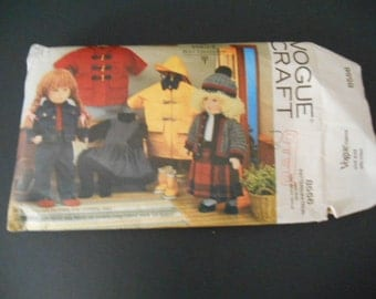 """Vogue 8556,  Craft pattern, doll clothes, 18"""" doll"""